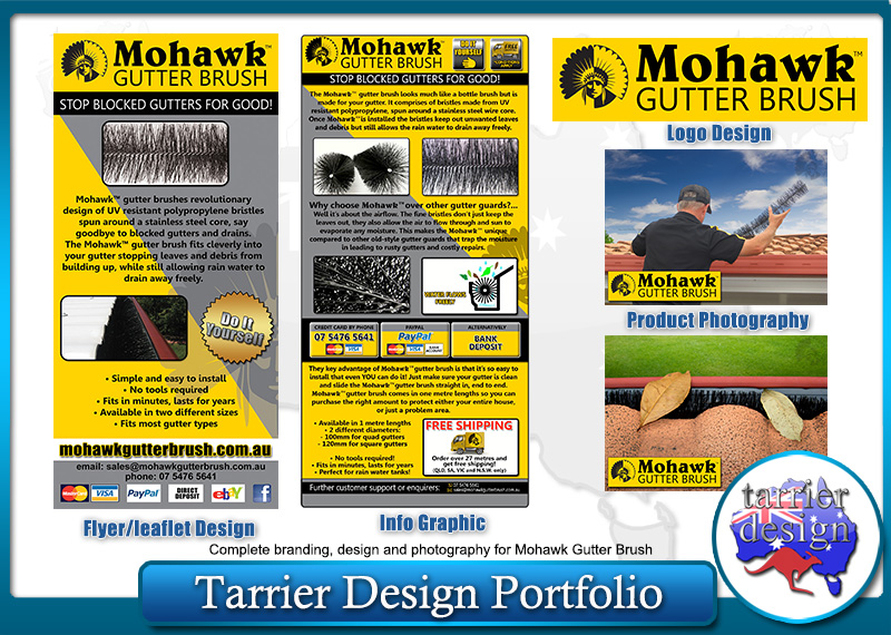 Mohawk Gutter Brush Design - By Tarrier Design