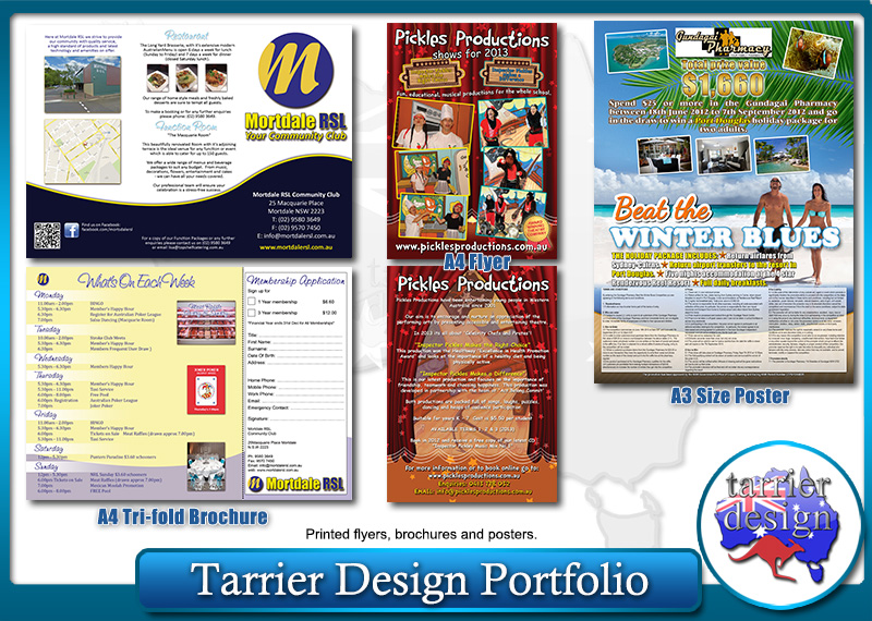 Posters and Flyers by Tarrier Design